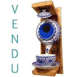 Nichoir motifs Asie bleu