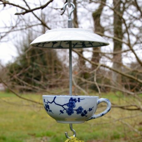 Mangeoire pour oiseaux motifs Asie bleus
