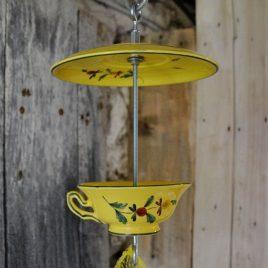 Mangeoire pour oiseaux, décoration de jardin, motifs provençaux