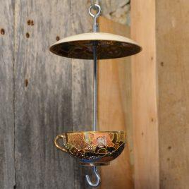 Mangeoire tasse motifs asiatiques, décoration jardin