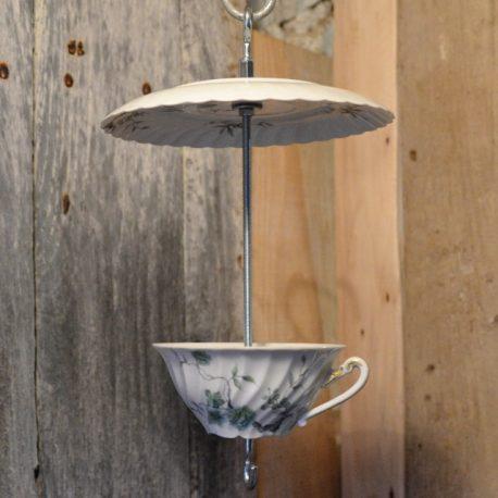 Mangeoire pour oiseaux, décoration de jardin, feuillage vert