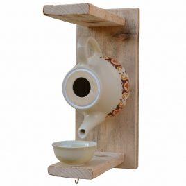 Nichoir théière pour oiseau, décoration de jardin