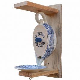 Distributeur de graines pour oiseaux saucière style anglais, décoration jardin