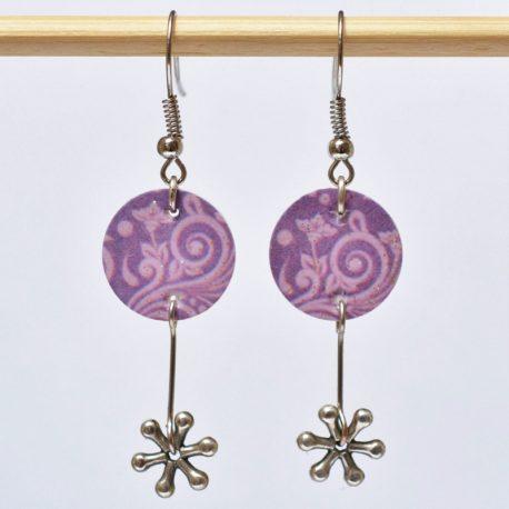 BO fleuries violettes pailletées étoile