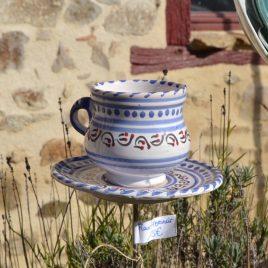 Mangeoire à planter tasse et soucoupe