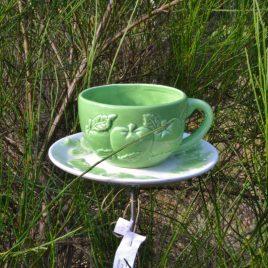 Mangeoire/abreuvoir à planter bol pomme verte