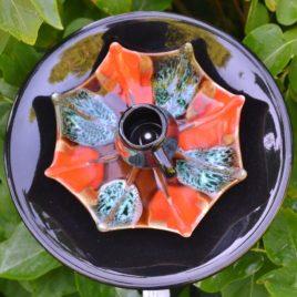 Fleur géante vaisselle recyclée