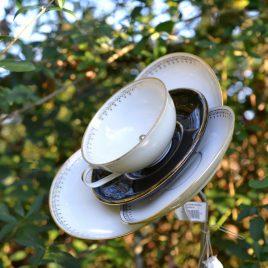 Fleur 3 pétales vaisselle, décoration de jardin