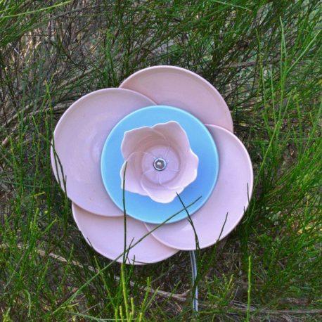 Fleur 4 pétales roses pour massif