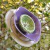 Fleur chou vaisselle recyclée, décoration de jardin