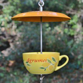 Mangeoire tasse et soucoupe agrumes citron