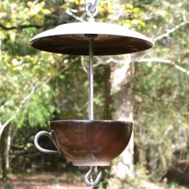mangeoire pour oiseaux, décoration de jardin