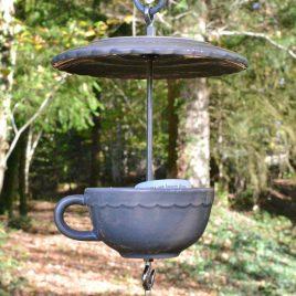 Mangeoire abreuvoir pour oiseaux, déco de jardin