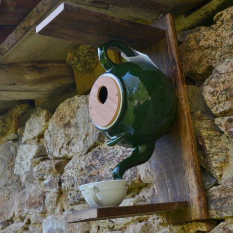 Nichoir théière vert olive