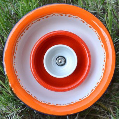 Fleur métal orange et rouge (1)