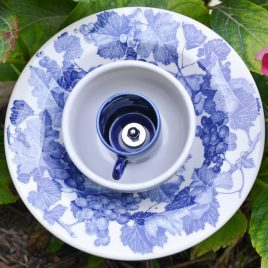 Fleur bleue raisins